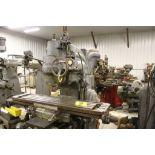 "Milwaukee K/T mill, model CH No. 2, sn 2-8910, 5 hp., 51"" x 12"" bed."