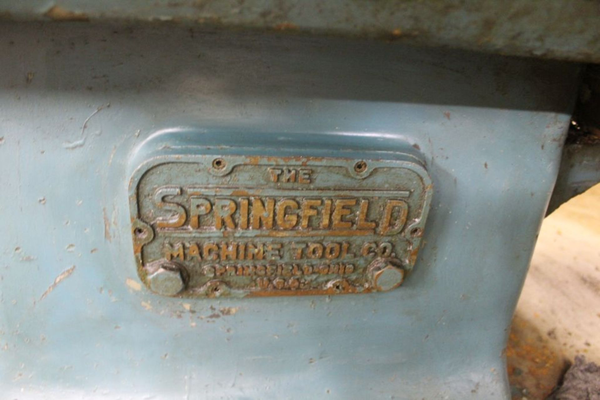 """Springfield lathe, sn 52071, 14"""", 1 3/4"""" hole, 16"""" swing, 48"""" center to center, taper attachment, - Image 3 of 14"""