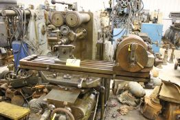 "Milwaukee mill model H, sn 3596, 51"" x 10"" bed, horz. Boring mill."