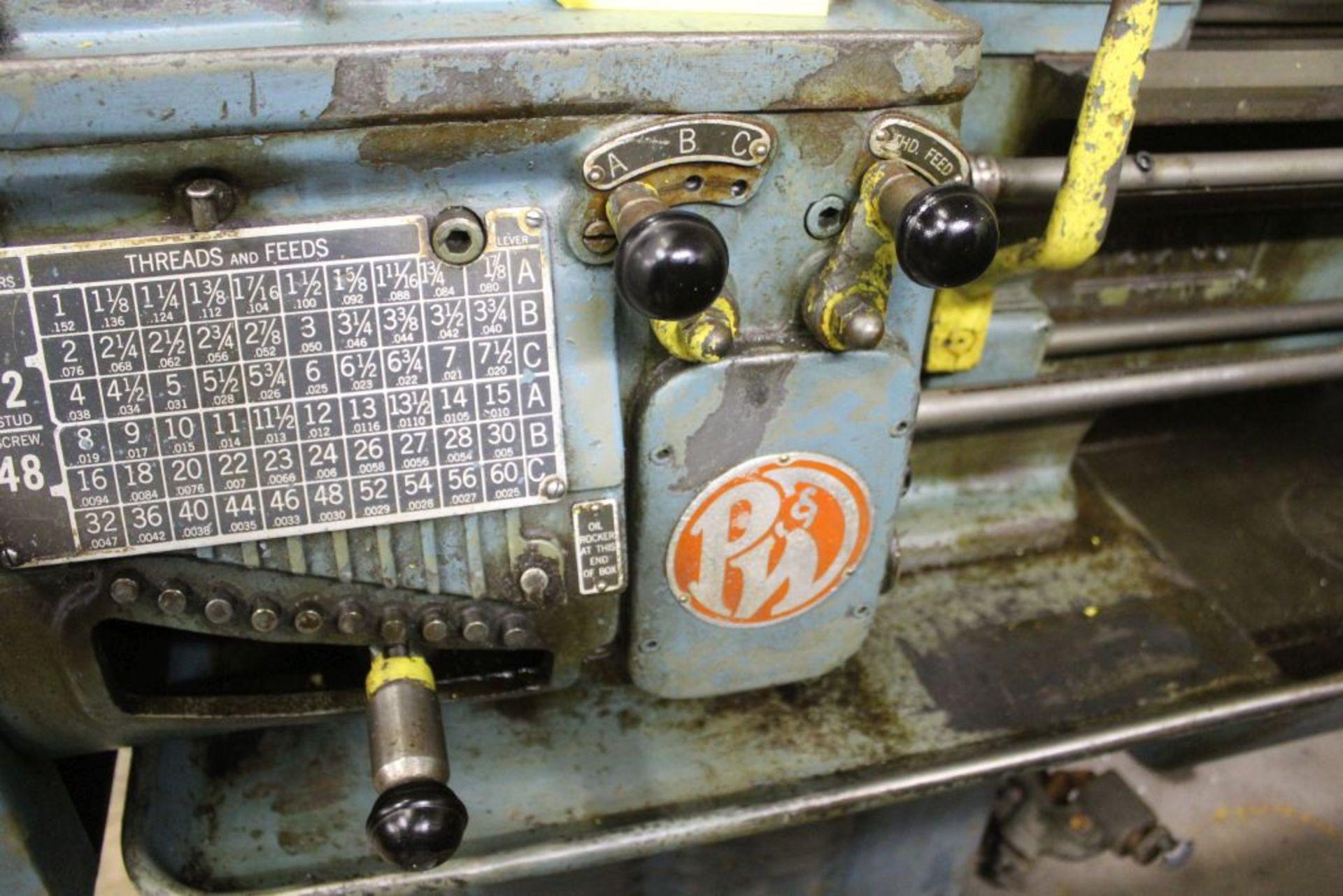 "Pratt & Whitney lathe, sn 26830, 16"" swing, 9"" 6 jaw chuck, 30"" center to center, taper - Image 8 of 10"