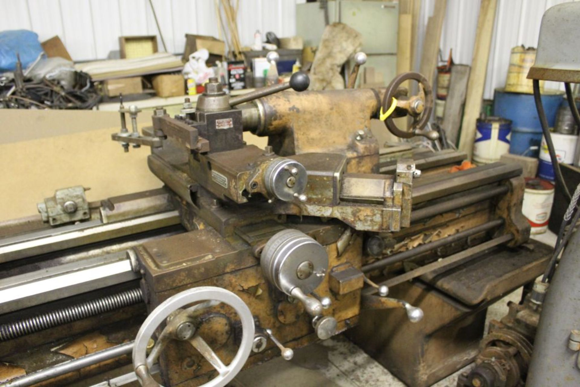 """1960 Monarch engine lathe, model 61, sn 44310-AT, 13 x 54, 20 1/2"""" swing, 79"""" bed, 55"""" center to - Image 3 of 8"""