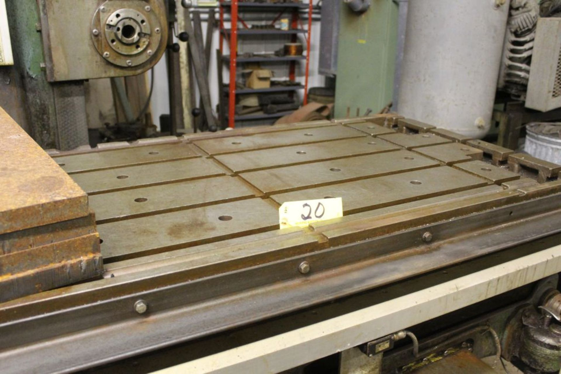 """Giddings & Lewis boring mill, No 30, 30"""" x 62"""" bed, 55"""" height adjustment, 13"""", EG&G digital read - Image 4 of 13"""
