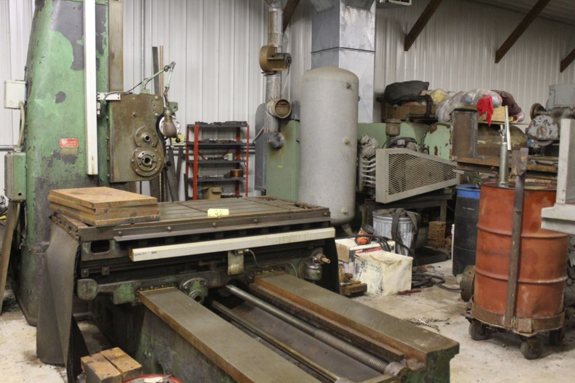 """Giddings & Lewis boring mill, No 30, 30"""" x 62"""" bed, 55"""" height adjustment, 13"""", EG&G digital read - Image 10 of 13"""