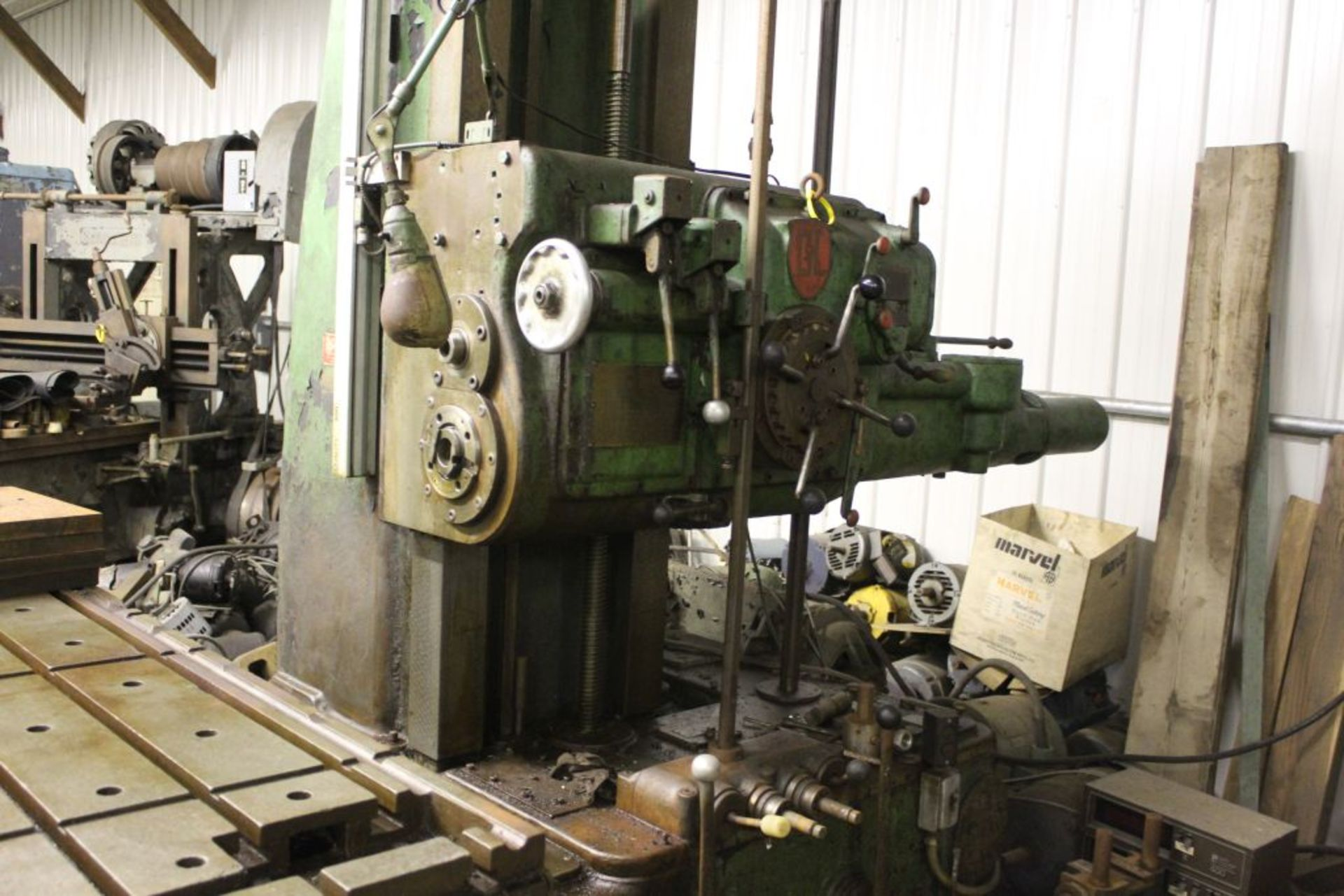 """Giddings & Lewis boring mill, No 30, 30"""" x 62"""" bed, 55"""" height adjustment, 13"""", EG&G digital read - Image 7 of 13"""