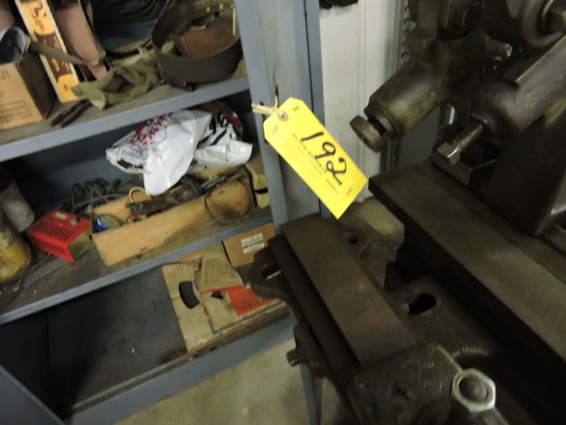 Two Door Cabinet W/ Contents Belt Dressing, Lapping compound, Sand Paper, Misc. - Image 2 of 3