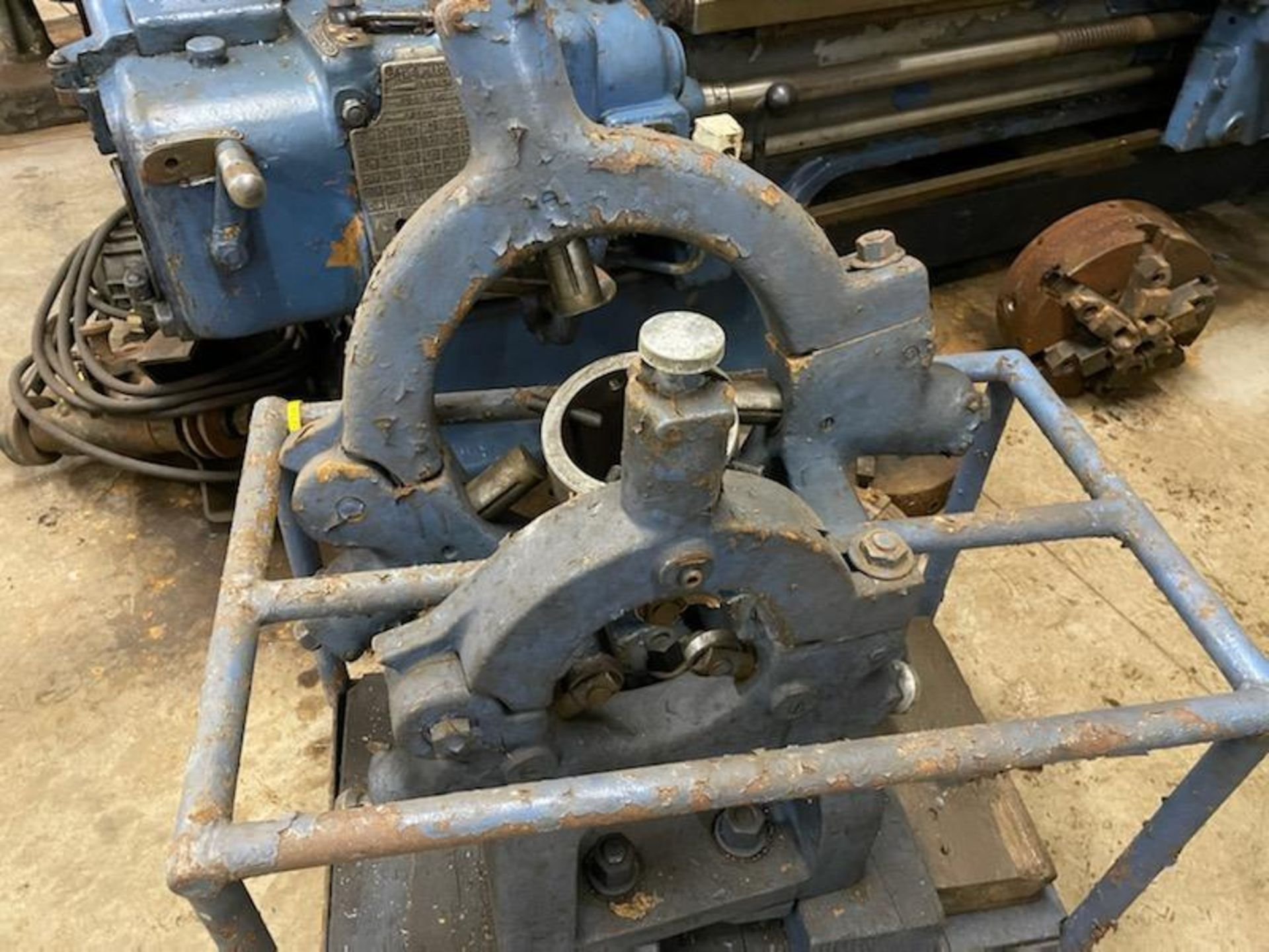 """1952 Monarch lathe, sn 35209, 20"""", 2 1/4"""" hole, 96"""" bed, 27.5 swing, 72"""" center to center, tooling - Image 11 of 12"""