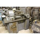 """Hardinge lathe model HCT, 16"""" bed, 2"""" hole, carriage feed, thread attachment, 1 hp, 3 phase, 220"""
