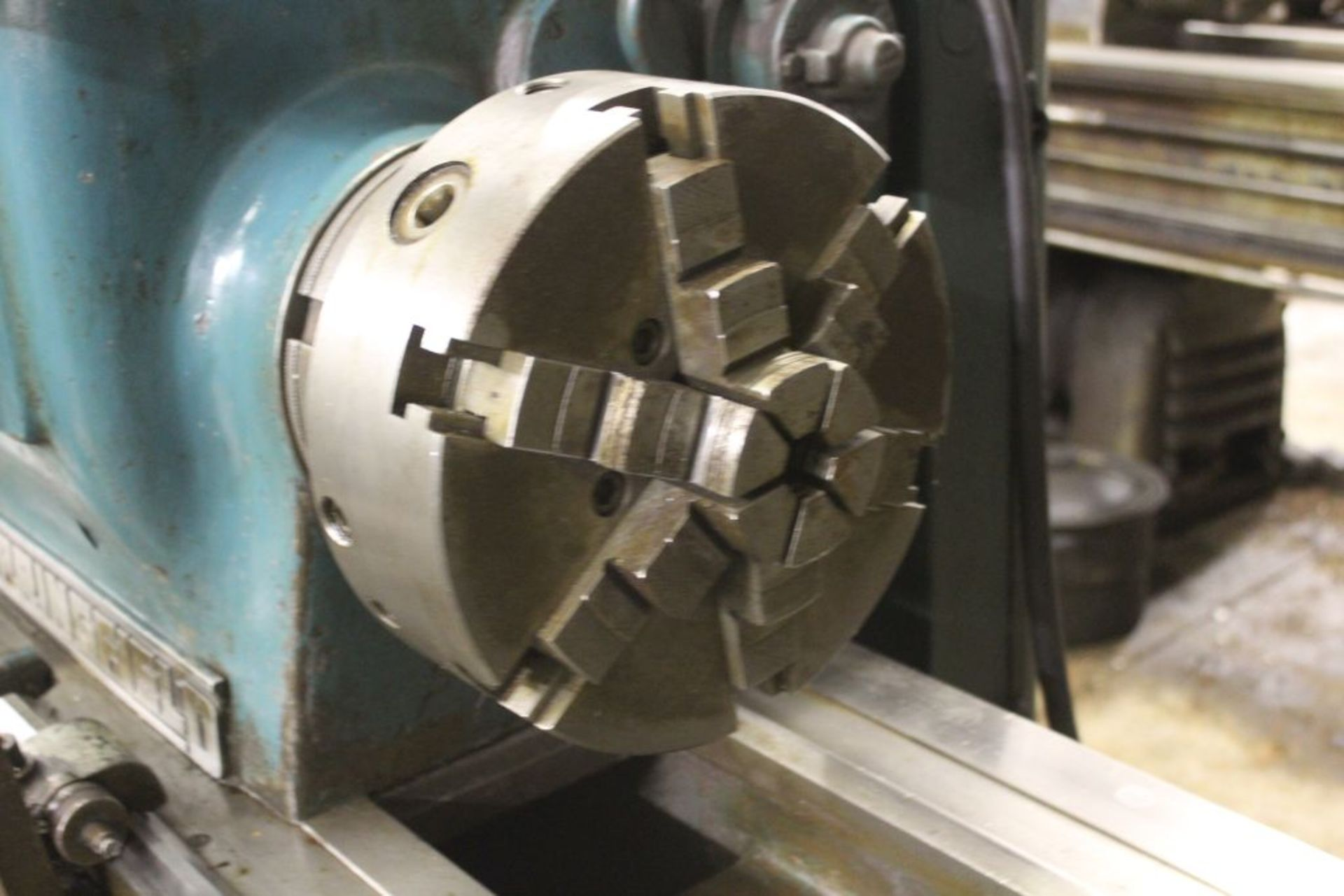 """Springfield lathe, sn 52071, 14"""", 1 3/4"""" hole, 16"""" swing, 48"""" center to center, taper attachment, - Image 6 of 14"""