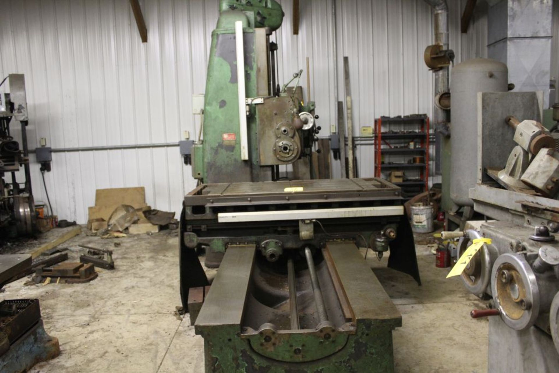 """Giddings & Lewis boring mill, No 30, 30"""" x 62"""" bed, 55"""" height adjustment, 13"""", EG&G digital read - Image 3 of 13"""