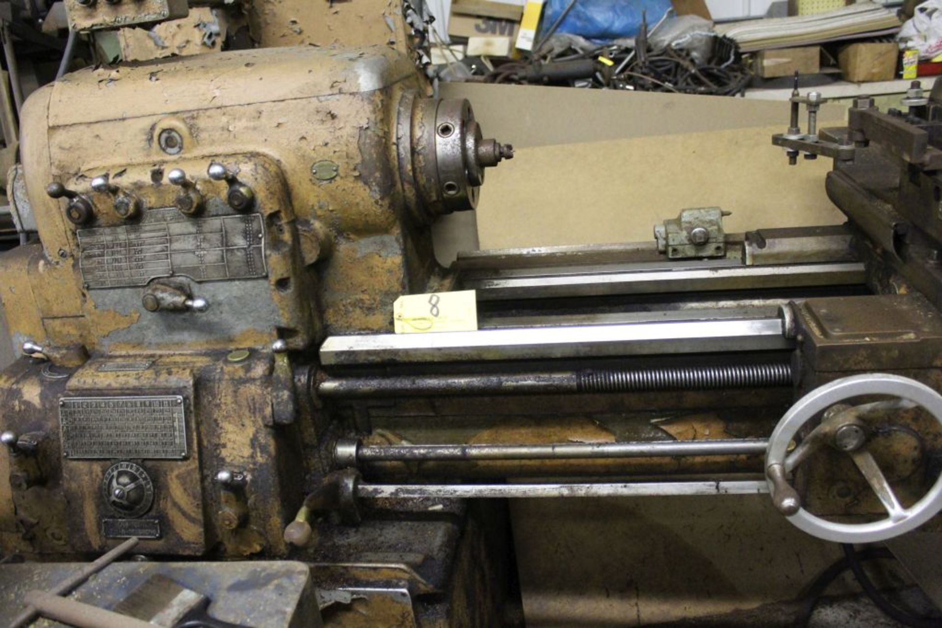 """1960 Monarch engine lathe, model 61, sn 44310-AT, 13 x 54, 20 1/2"""" swing, 79"""" bed, 55"""" center to - Image 6 of 8"""