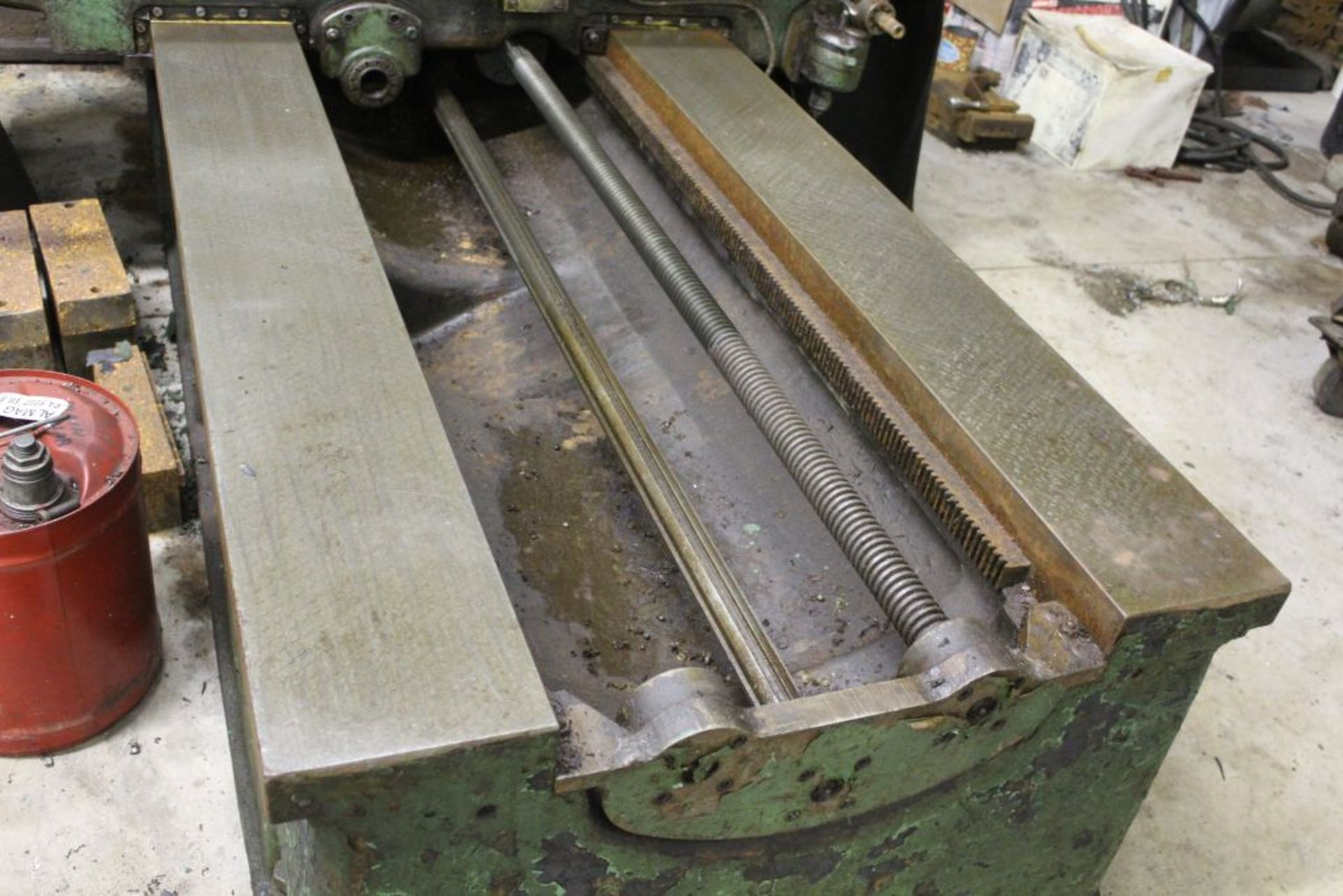 """Giddings & Lewis boring mill, No 30, 30"""" x 62"""" bed, 55"""" height adjustment, 13"""", EG&G digital read - Image 5 of 13"""