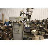 "Tree mill, model 2UVR, 10.5"" x 42"" power bed, power feed."