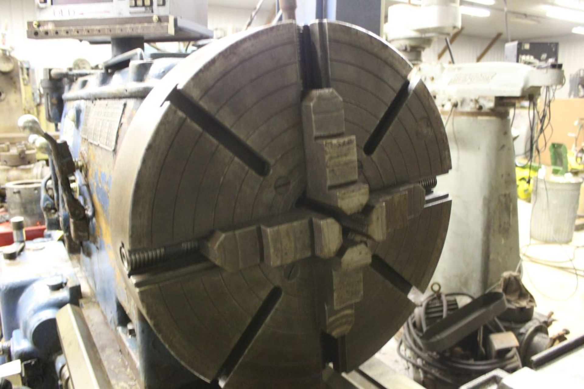 """1952 Monarch lathe, sn 35209, 20"""", 2 1/4"""" hole, 96"""" bed, 27.5 swing, 72"""" center to center, tooling - Image 5 of 12"""