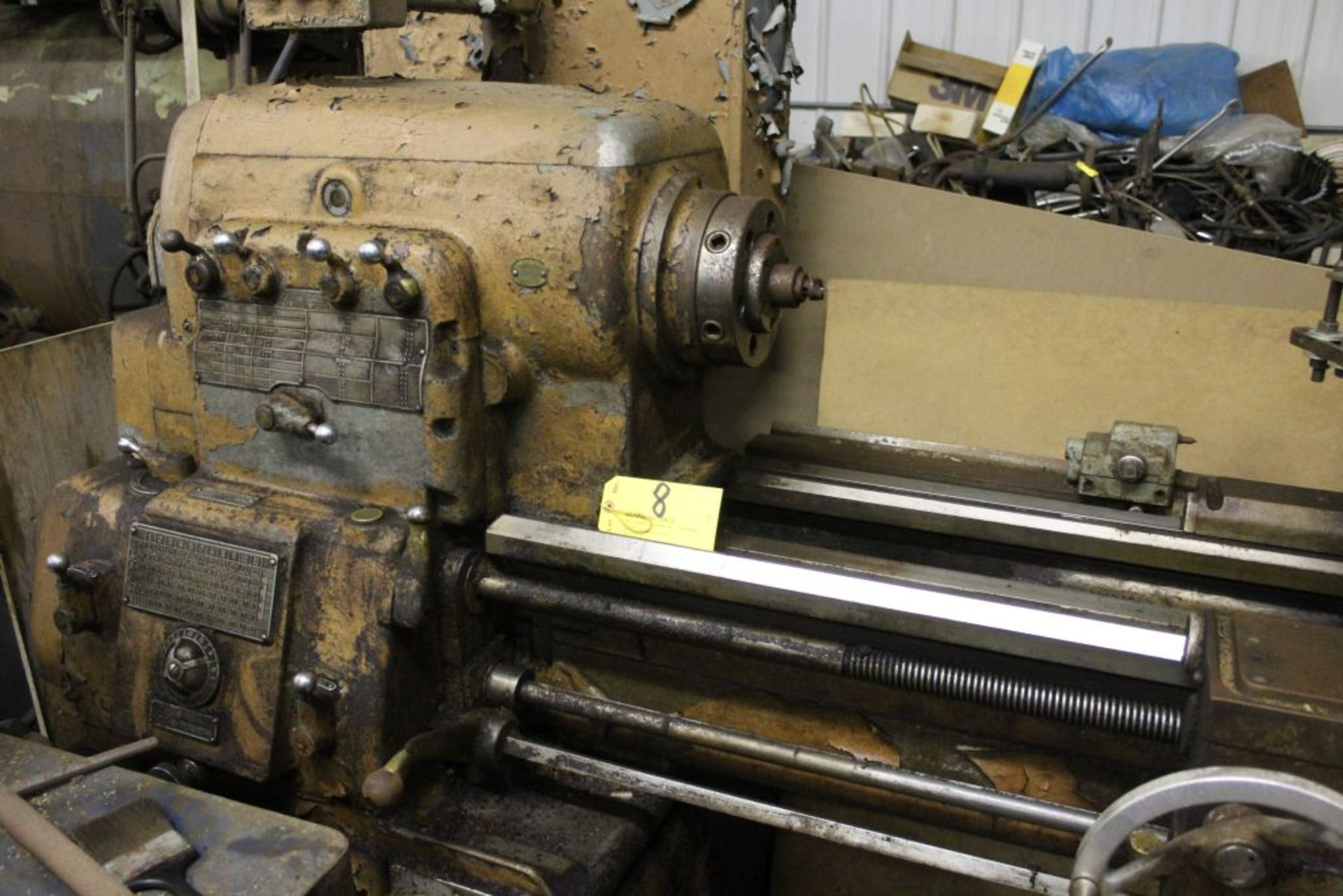 """1960 Monarch engine lathe, model 61, sn 44310-AT, 13 x 54, 20 1/2"""" swing, 79"""" bed, 55"""" center to - Image 2 of 8"""
