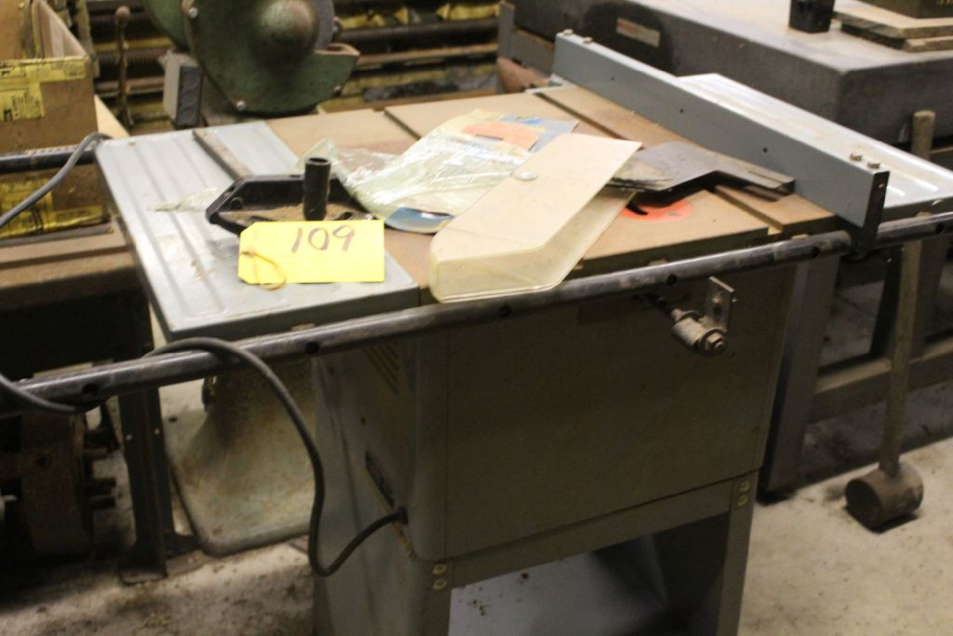 "Delta table saw, model 34-670, sn K-3946, 10""."