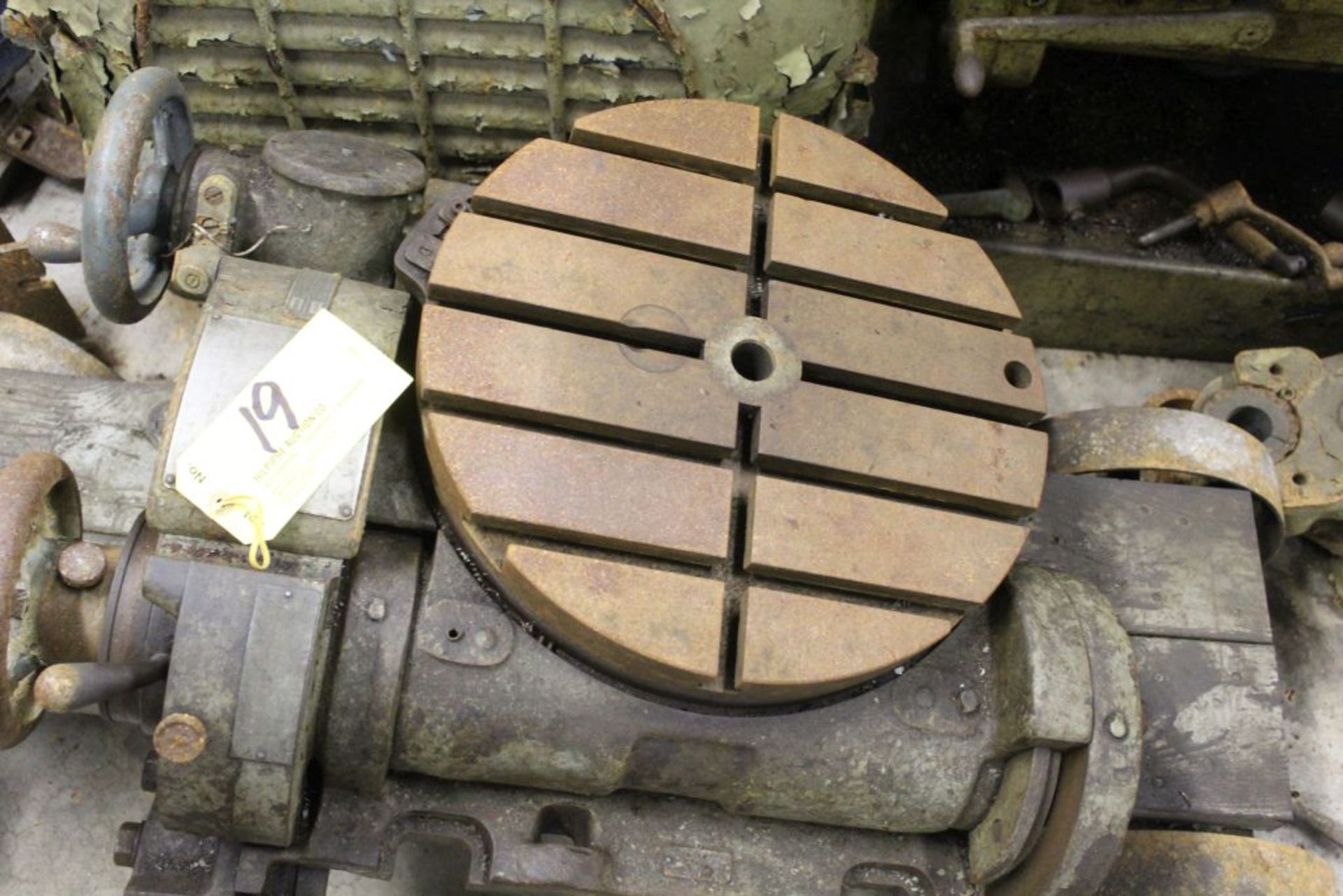 """Rotary table, 16"""" slotted, manual."""