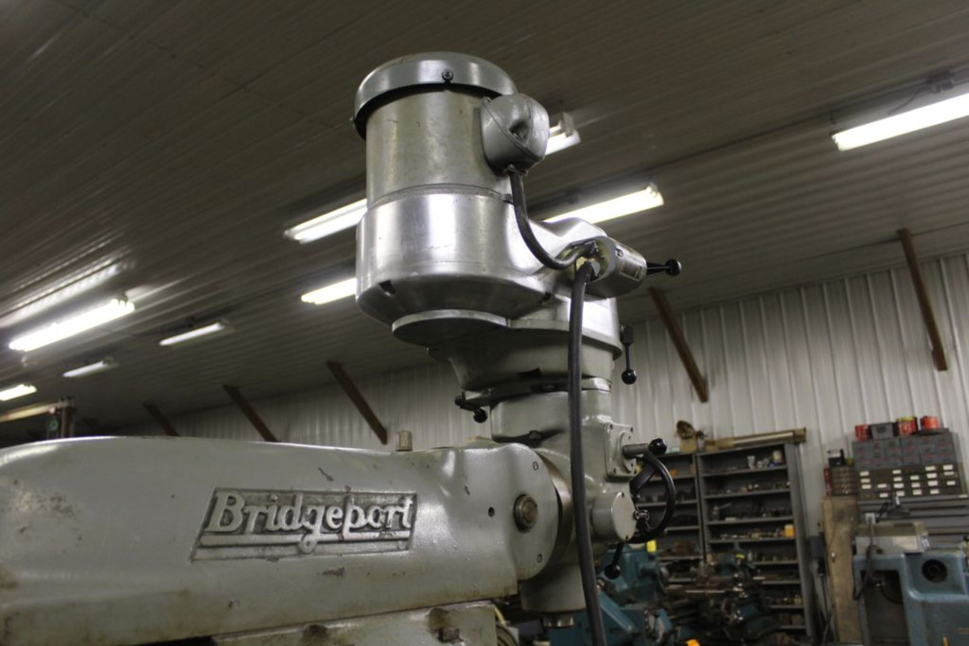 """Bridgeport mill, model 12-BR, sn 83978, 9"""" x 48"""" bed, manual (not down power), shaping attachment. - Image 5 of 15"""