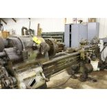 """Springfield lathe, 16"""", 2 1/2"""" hole, 9' bed, 20"""" swing, 96"""" center to center, taper attachment, ("""