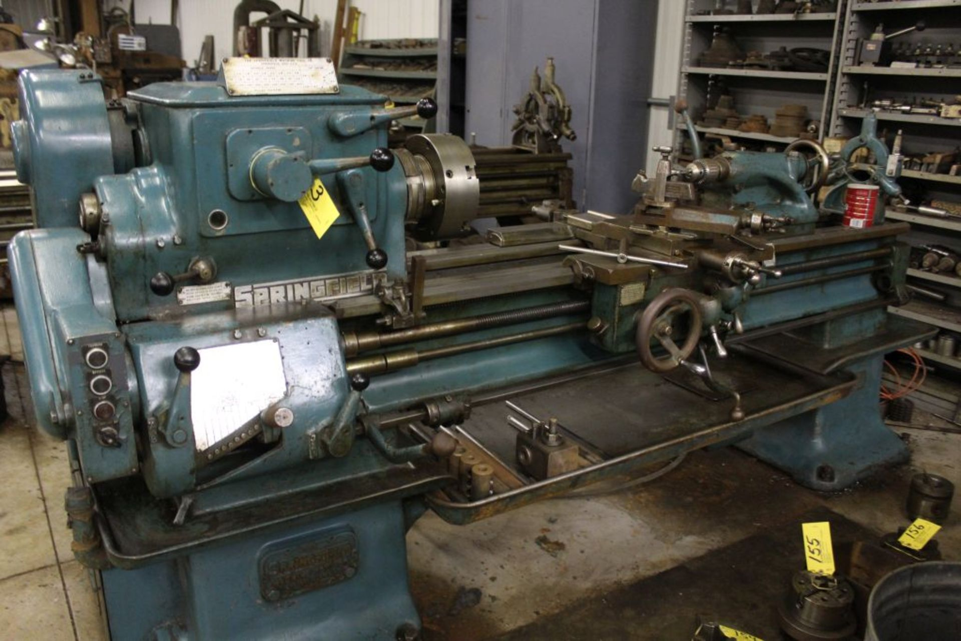 """Springfield lathe, sn 52071, 14"""", 1 3/4"""" hole, 16"""" swing, 48"""" center to center, taper attachment, - Image 14 of 14"""