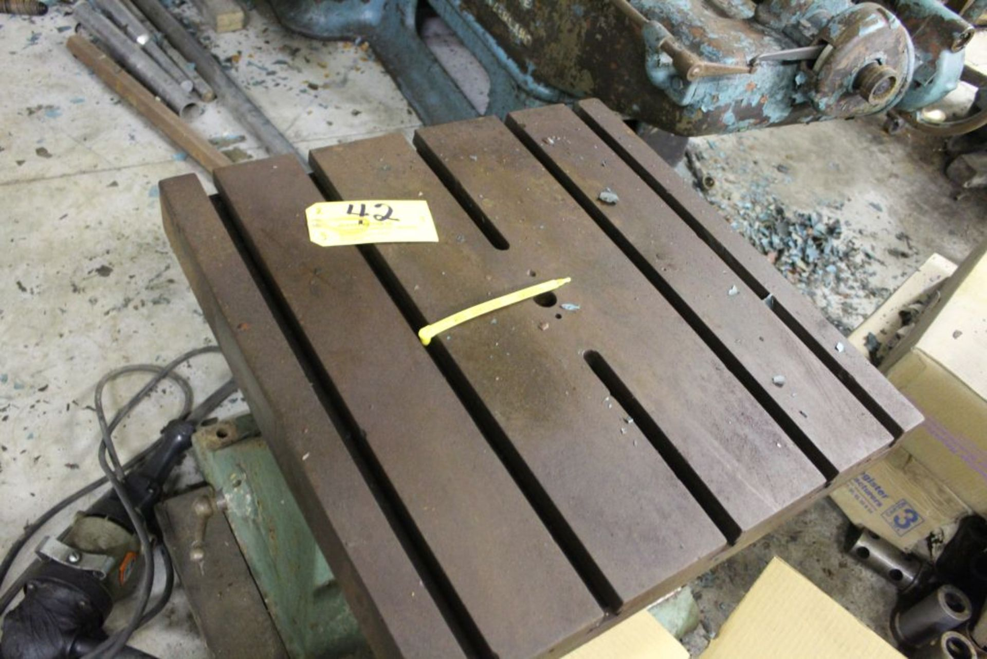 """Adjustable slotted fixture table 24"""" x 24"""" x 27""""."""