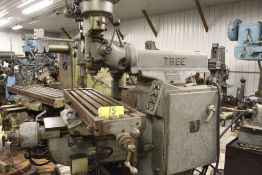 "Tree mill, model 2UVR, 10.5"" x 42"" bed, power feed, Scan-O-Matic tracing attachment."