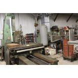 "Giddings & Lewis boring mill, No 30, 30"" x 62"" bed, 55"" height adjustment, 13"", EG&G digital read"