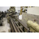 """American lathe, sn NA, 24"""", 2"""" hole, 156"""" bed, 28"""" swing, 128"""" center to center, tool holder, 20"""""""