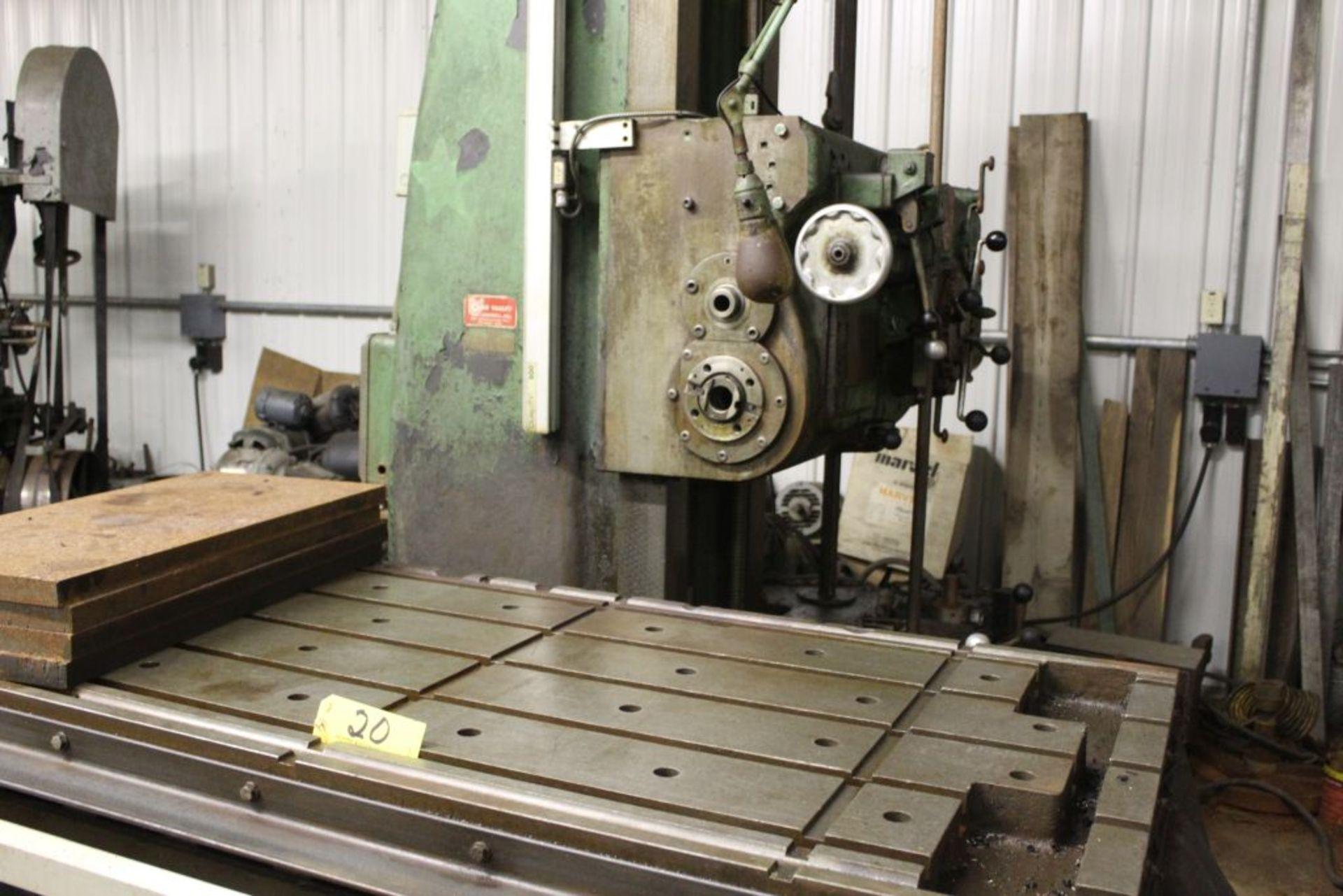 """Giddings & Lewis boring mill, No 30, 30"""" x 62"""" bed, 55"""" height adjustment, 13"""", EG&G digital read - Image 8 of 13"""