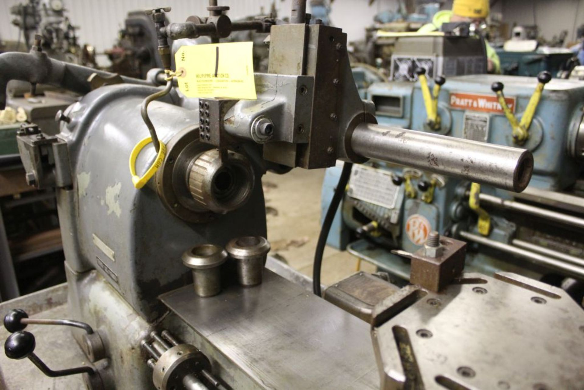 """Hardinge lathe model HCT, 16"""" bed, 2"""" hole, carriage feed, thread attachment, 1 hp, 3 phase, 220 - Image 3 of 8"""