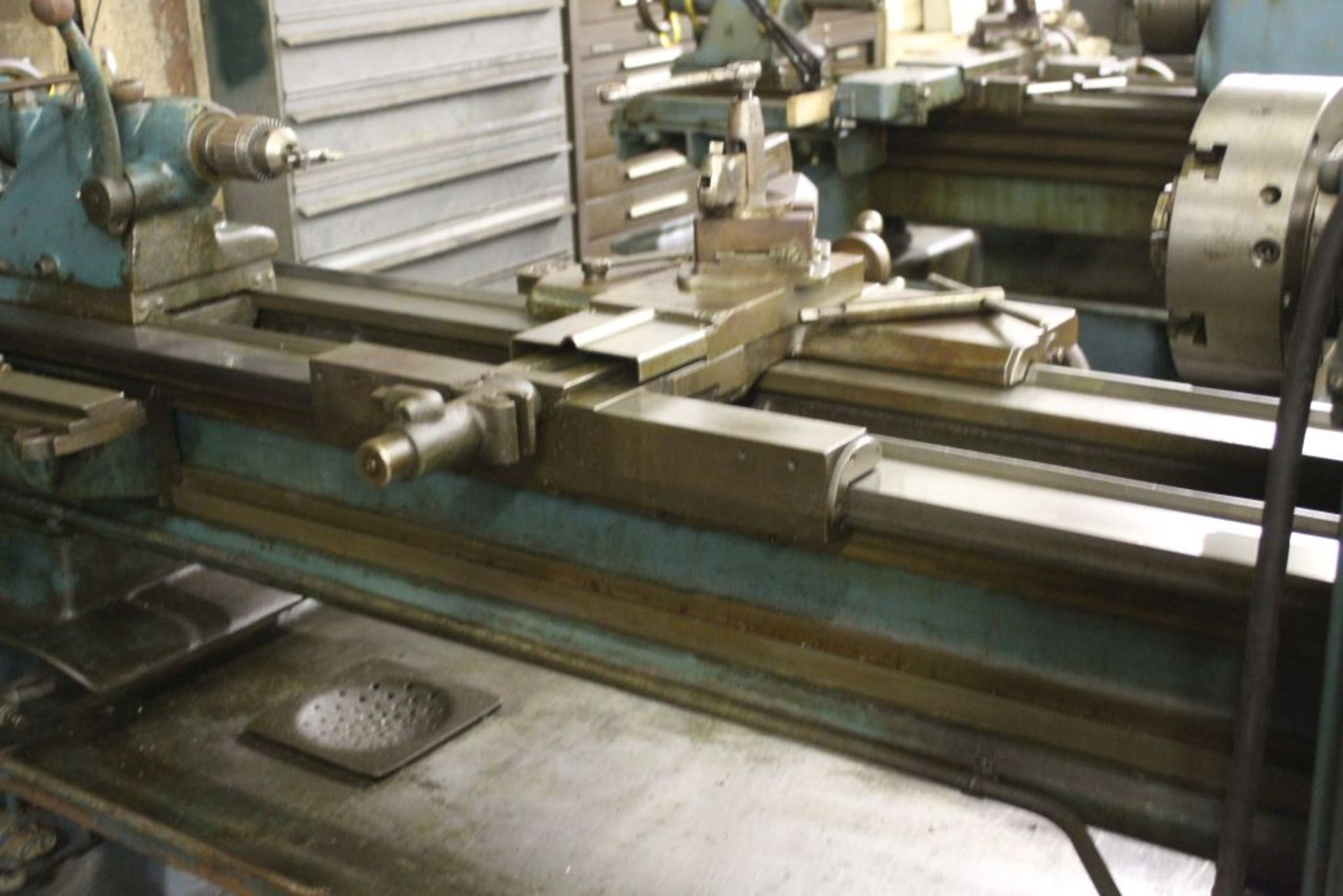 """Springfield lathe, sn 52071, 14"""", 1 3/4"""" hole, 16"""" swing, 48"""" center to center, taper attachment, - Image 11 of 14"""