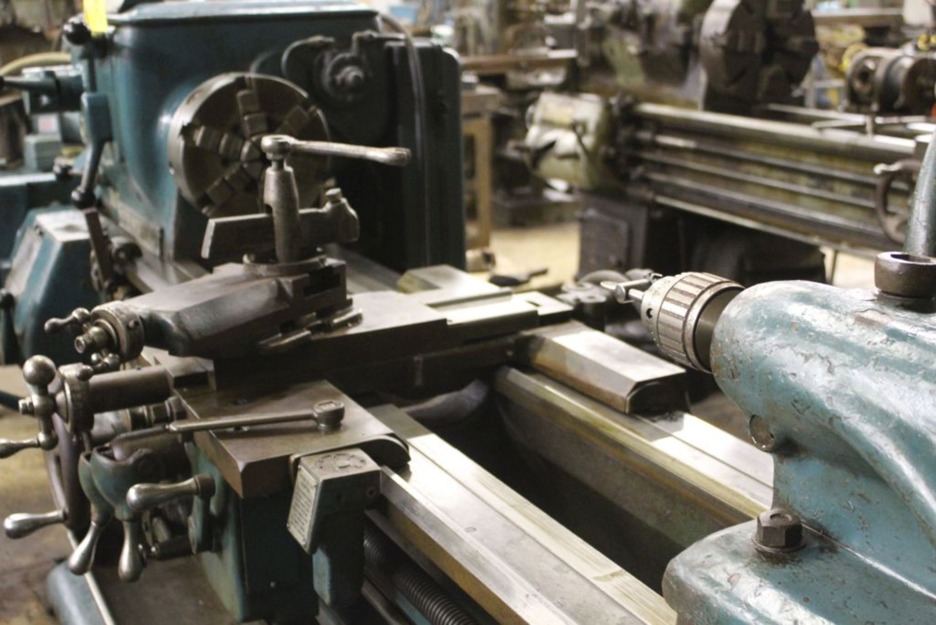 """Springfield lathe, sn 52071, 14"""", 1 3/4"""" hole, 16"""" swing, 48"""" center to center, taper attachment, - Image 5 of 14"""