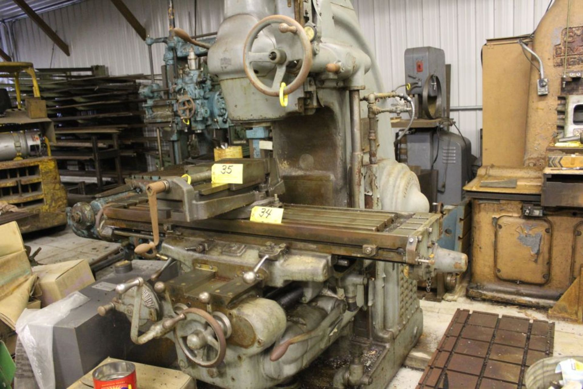 """Milwaukee mill, model K, sn 4192, 12"""" x 57"""" bed. - Image 6 of 7"""