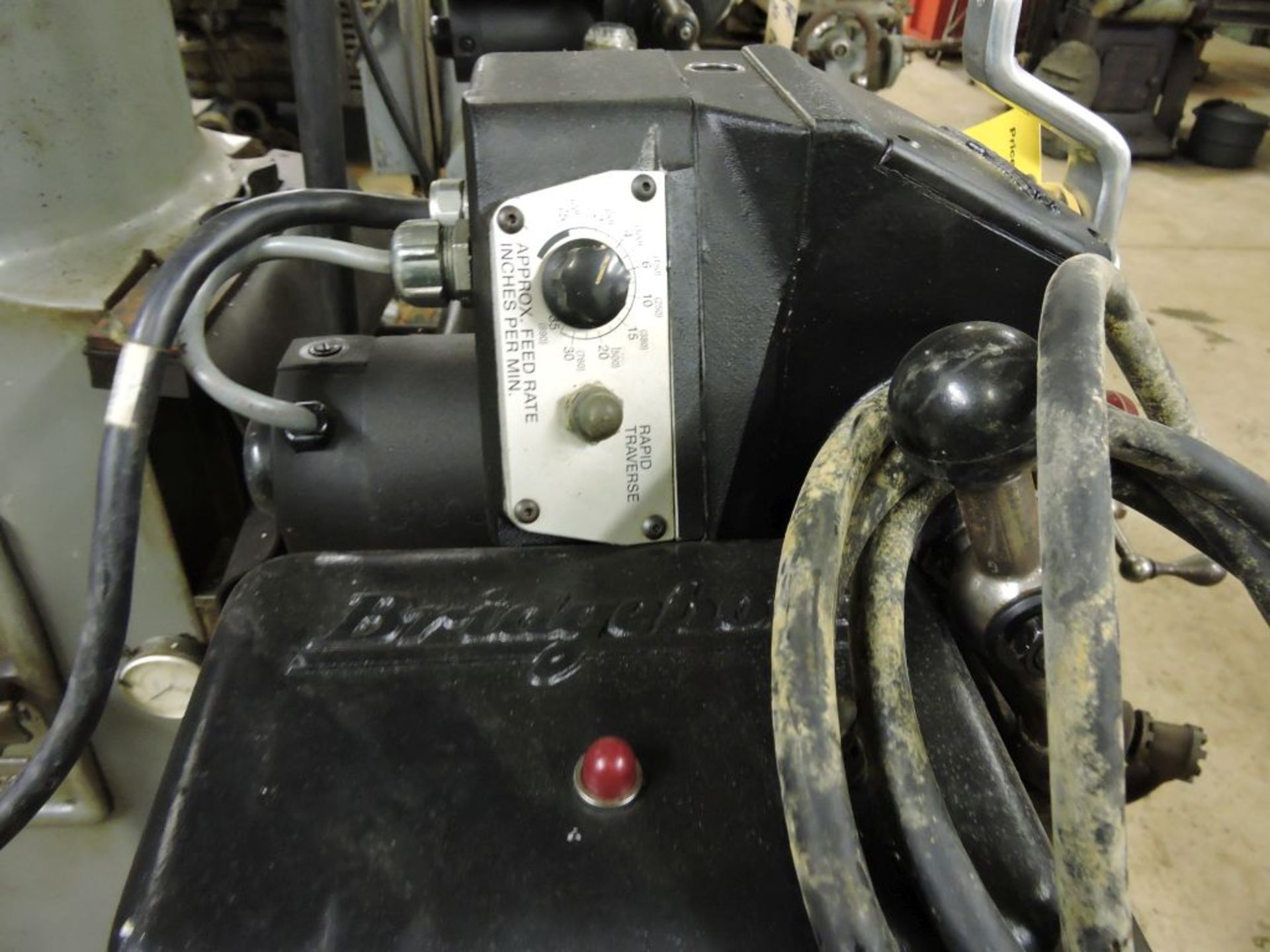 """Bridgeport mill, model 12-BR, sn 83978, 9"""" x 48"""" bed, manual (not down power), shaping attachment. - Image 13 of 15"""