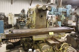 "Milwaukee mill, model K, No 4 plaining mill, 18"" x 84"" bed."