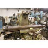 "Milwaukee mill, model K, No 4 plaining mill, 18"" x 84"" bed."