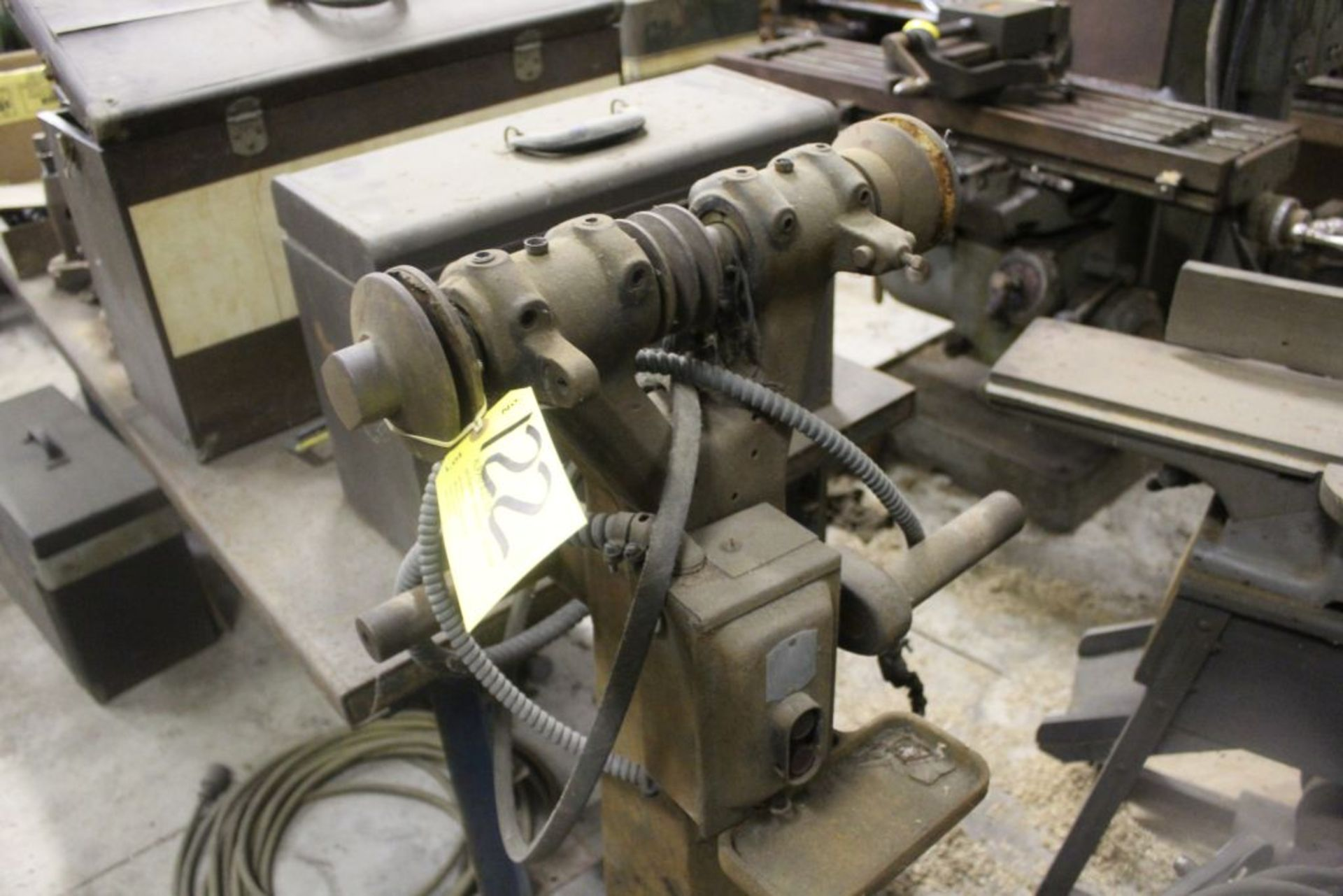 Double spindle grinder, cast iron, base only.