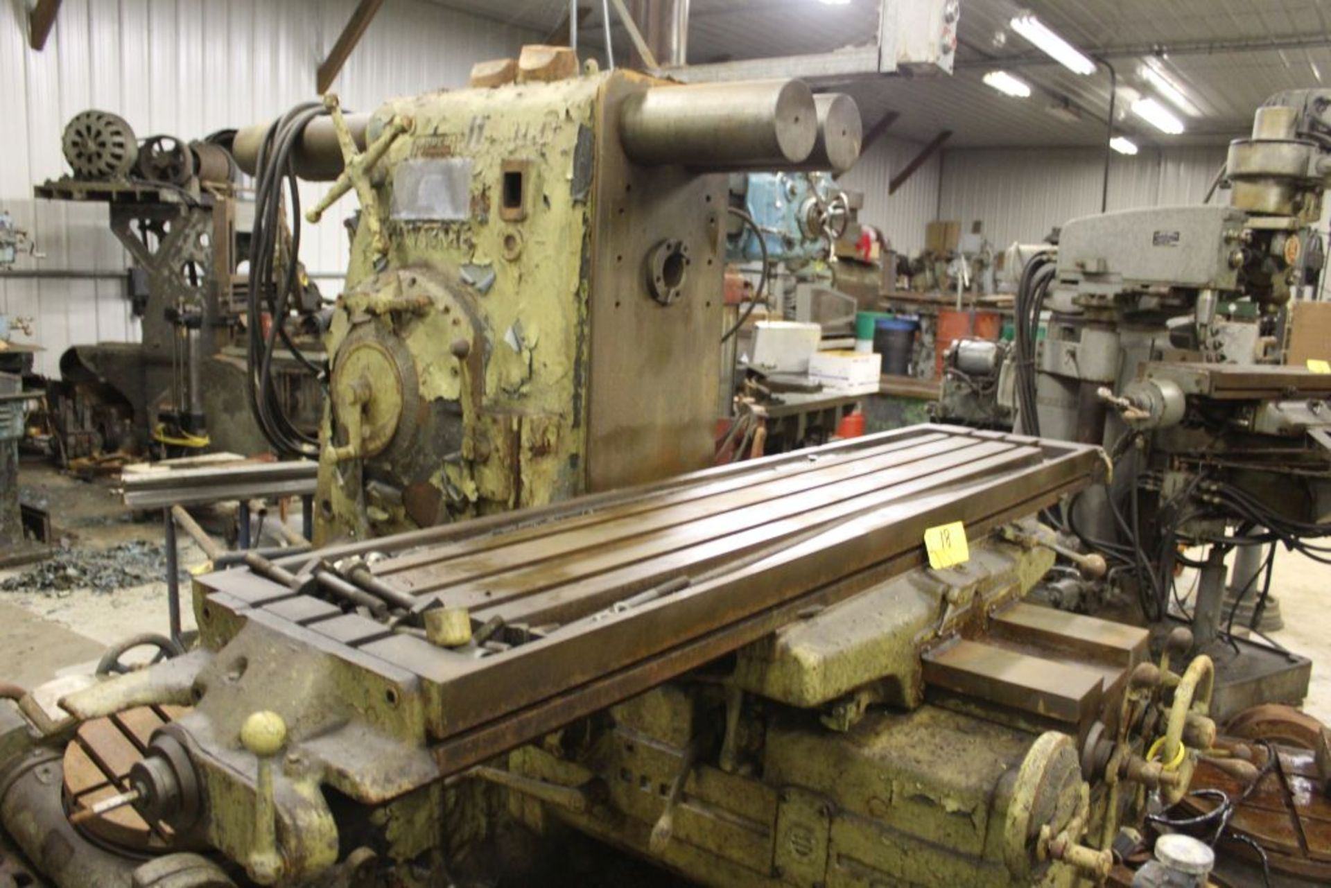 "Milwaukee mill, model K, No 4 plaining mill, 18"" x 84"" bed. - Image 3 of 9"