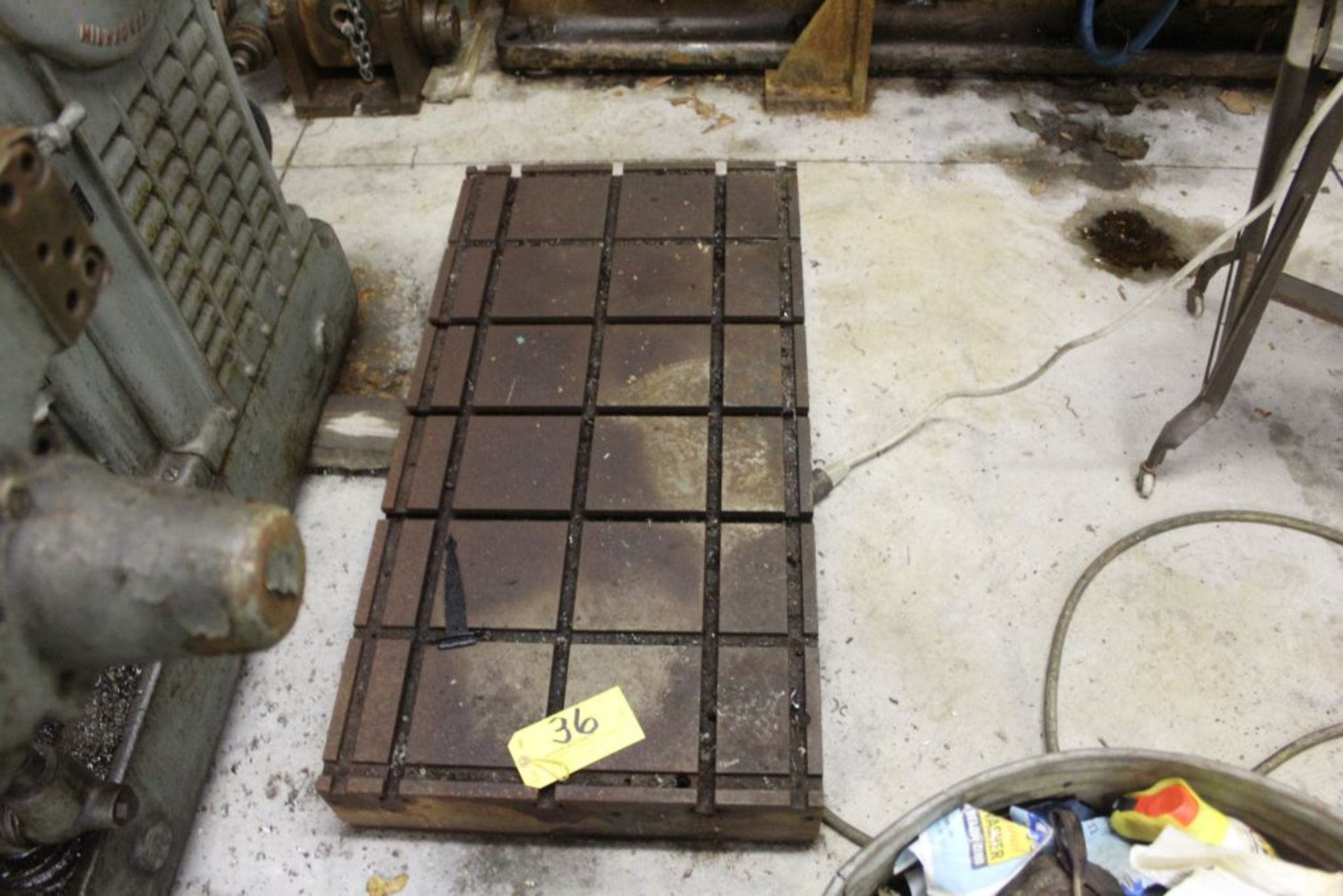 """Slotted surface plate 41"""" x 21"""" x 6""""."""