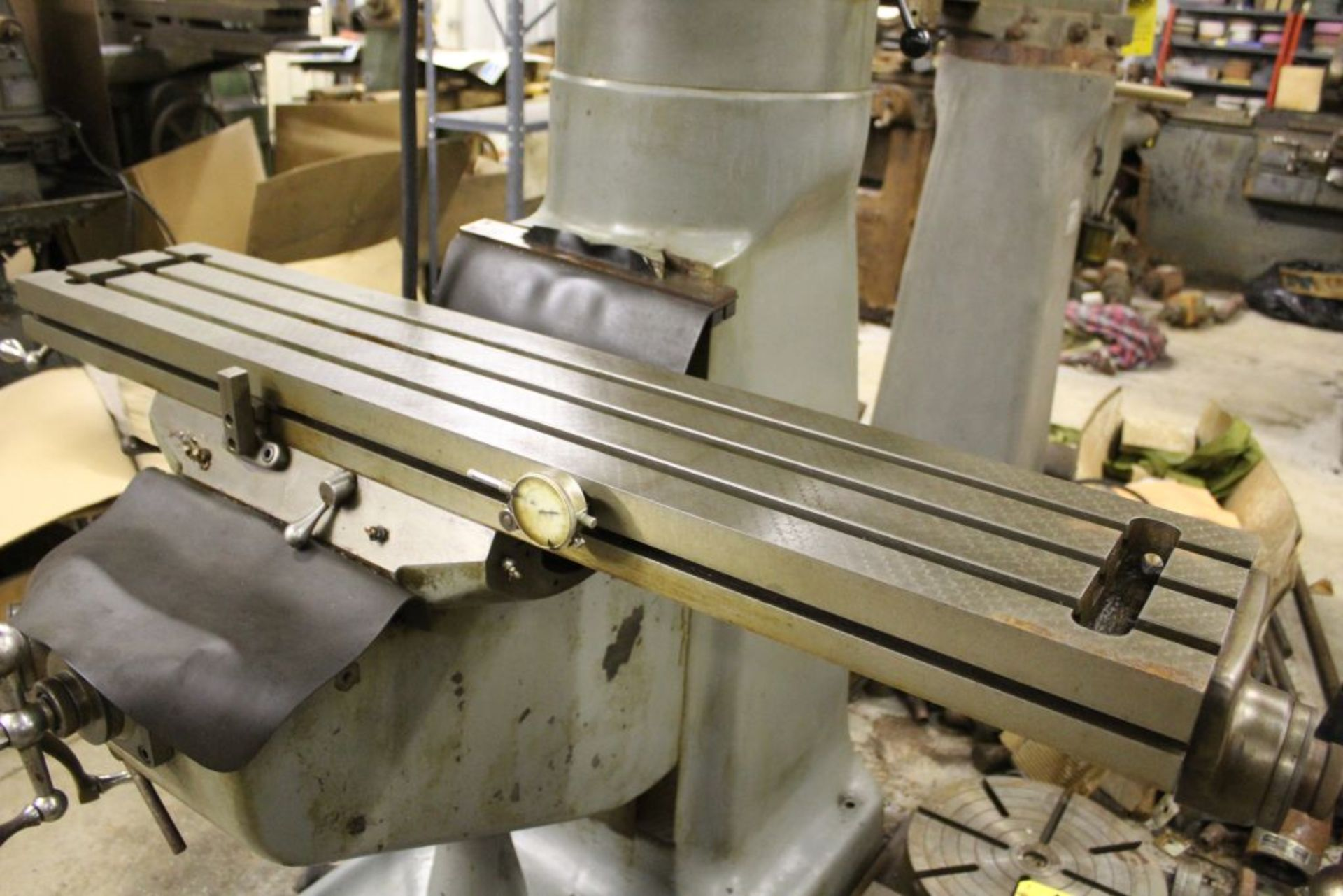 """Bridgeport mill, model 12-BR, sn 83978, 9"""" x 48"""" bed, manual (not down power), shaping attachment. - Image 10 of 15"""