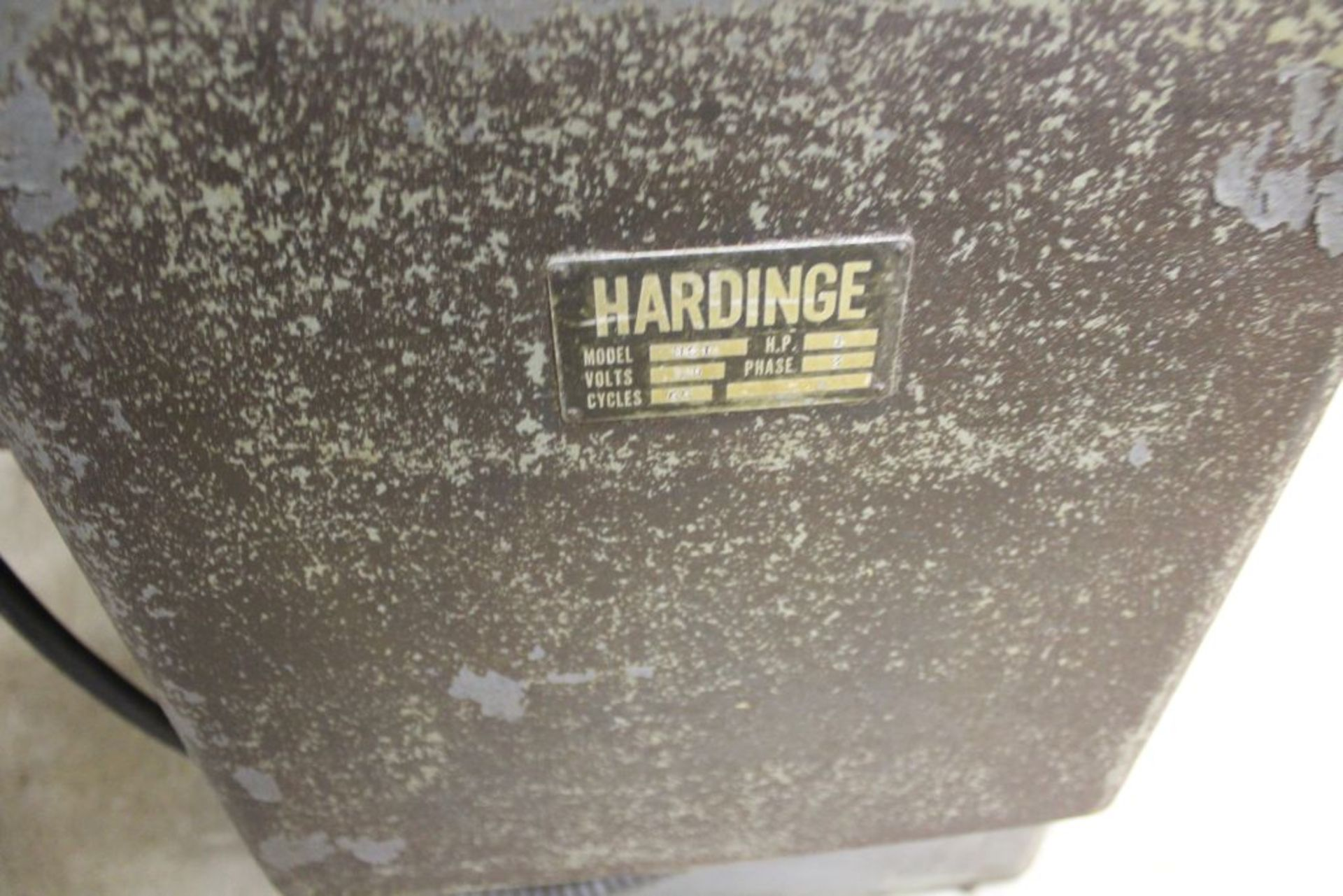 """Hardinge lathe model HCT, 16"""" bed, 2"""" hole, carriage feed, thread attachment, 1 hp, 3 phase, 220 - Image 6 of 8"""