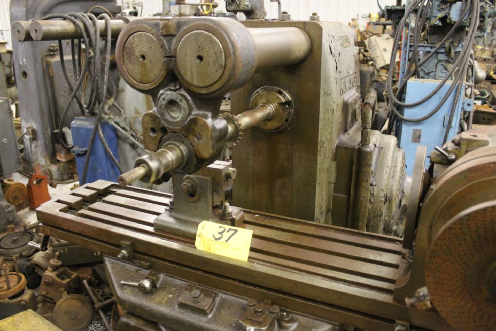 """Milwaukee mill model H, sn 3596, 51"""" x 10"""" bed, horz. Boring mill. - Image 2 of 3"""