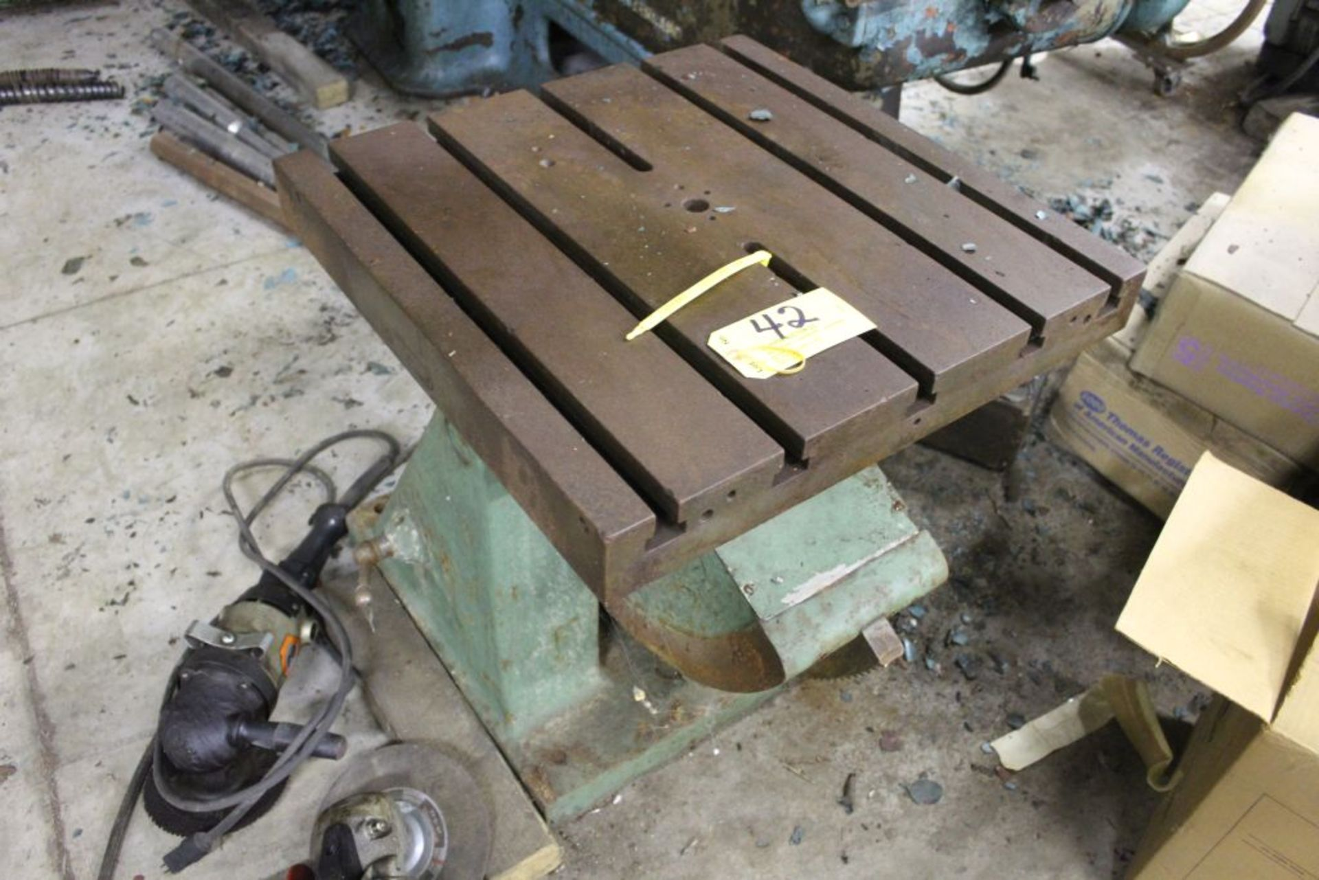 """Adjustable slotted fixture table 24"""" x 24"""" x 27"""". - Image 2 of 3"""