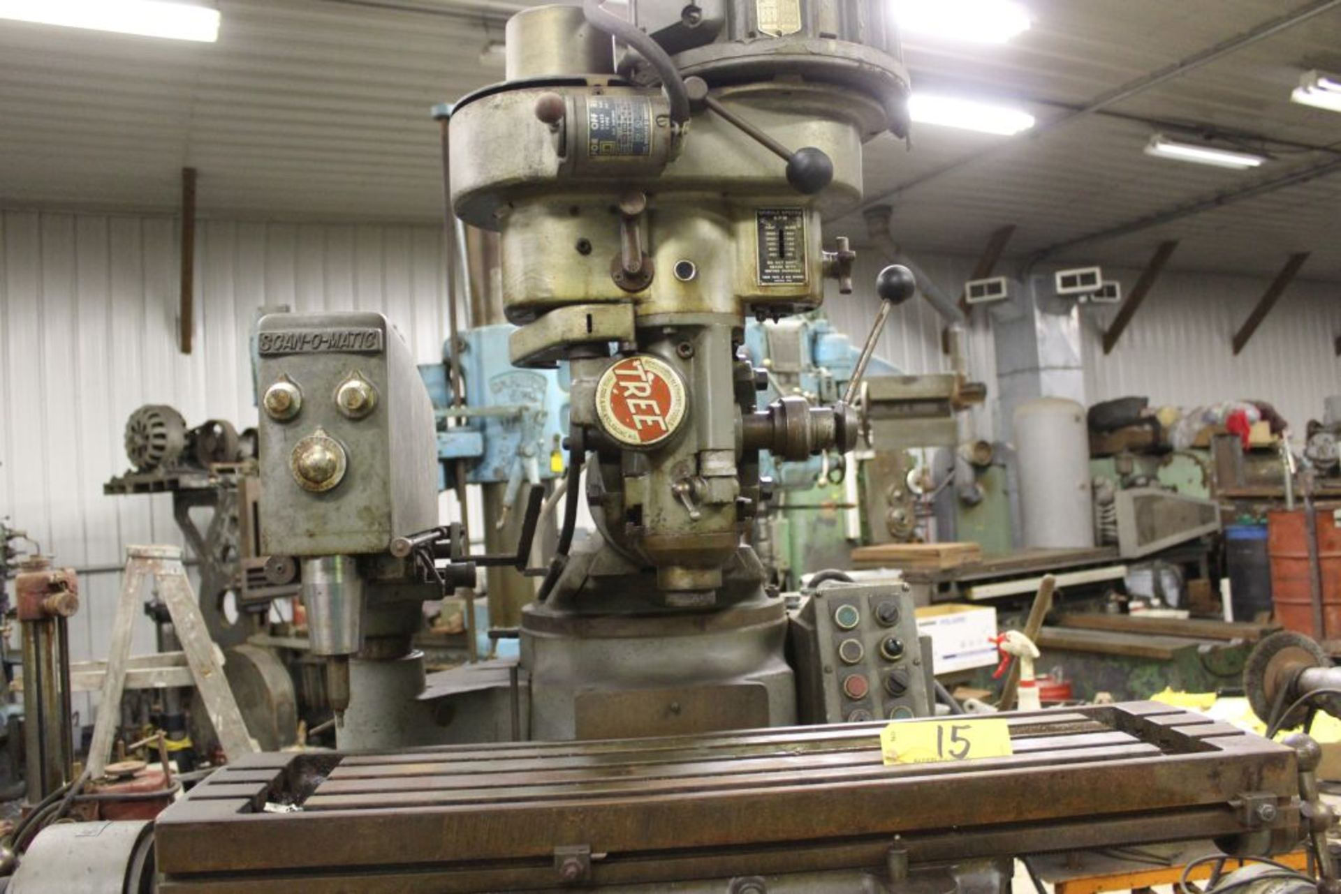 "Tree mill, model 2UVR, 10.5"" x 42"" bed, power feed, Scan-O-Matic tracing attachment. - Image 2 of 4"