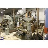 "Bridgeport mill, model BR12, sn 69112, 9"" x 42"" power bed, SARGON model 653, digital readout TBL,"