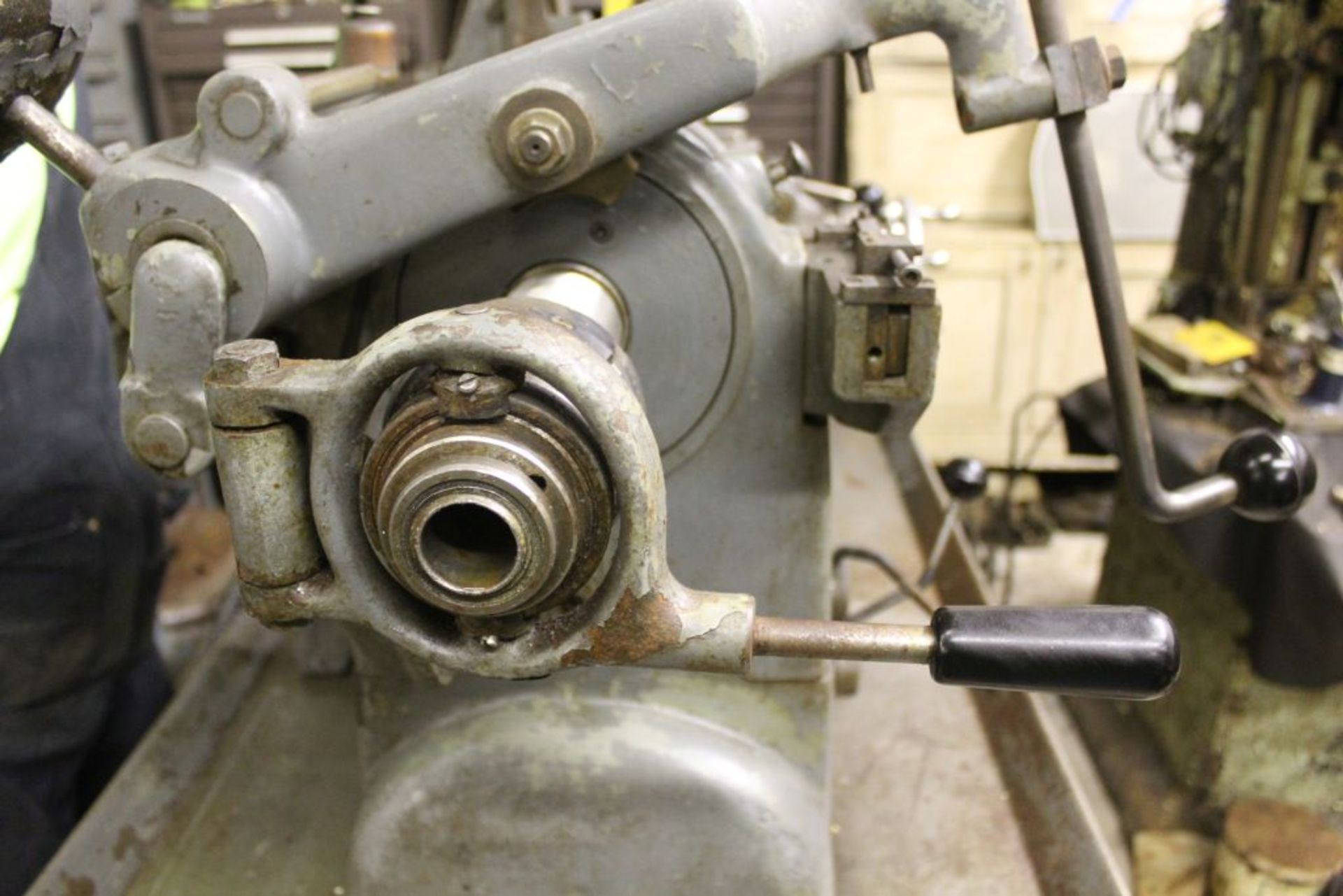 """Hardinge lathe model HCT, 16"""" bed, 2"""" hole, carriage feed, thread attachment, 1 hp, 3 phase, 220 - Image 4 of 8"""