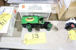 1925 Kenworth truck 1/30 scale model bank.