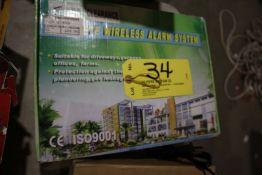Wireless alarm system.