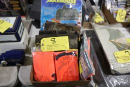 Safety vests, camo netting, pack-in blind.