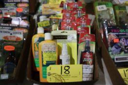Box animal scents, shampoo etc.