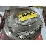 Saw blades various sizes (apprx. 10).